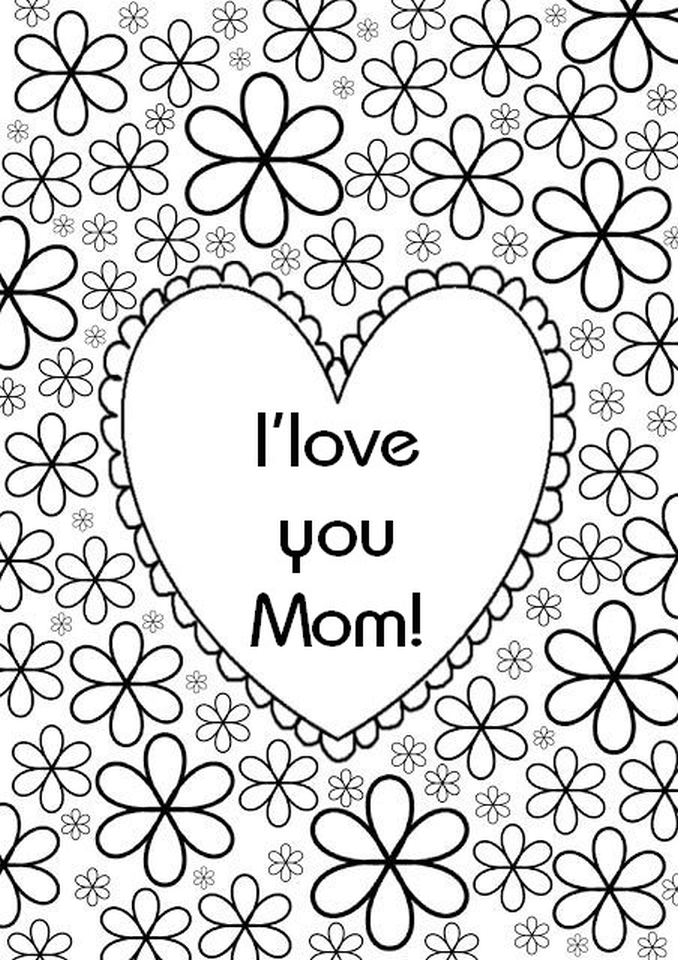 Mother's Day Coloring Pages for Adults Printable - 58301
