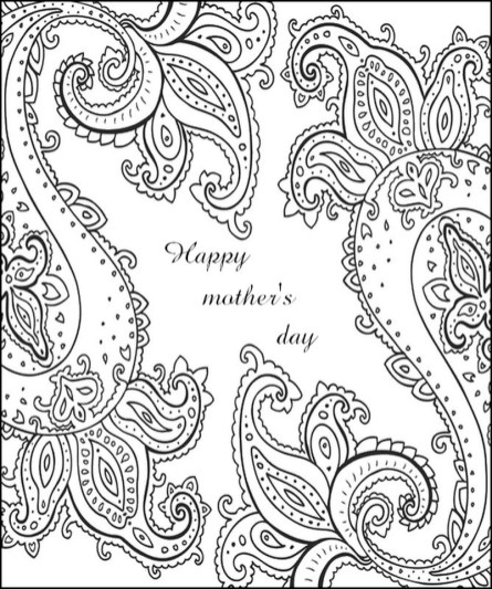 Mother's Day Coloring Pages for Adults Printable - 64781