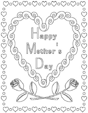 Online Printable Mother's Day Coloring Pages for Adults - 07021