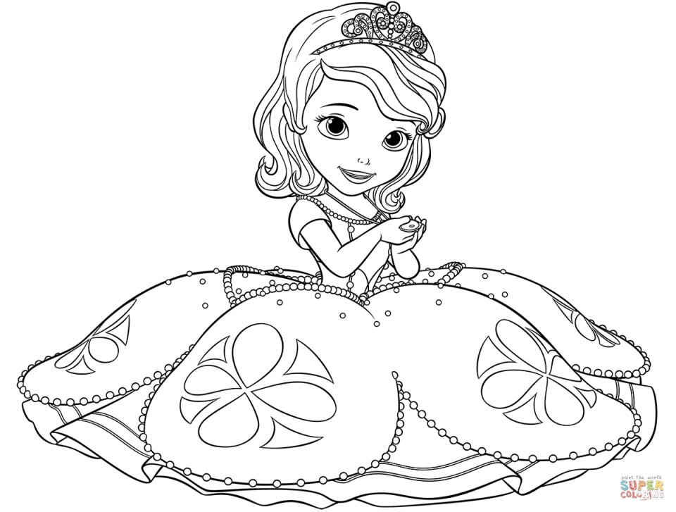 Princess Sofia the First Coloring Pages to Print Out for Girls - 72371