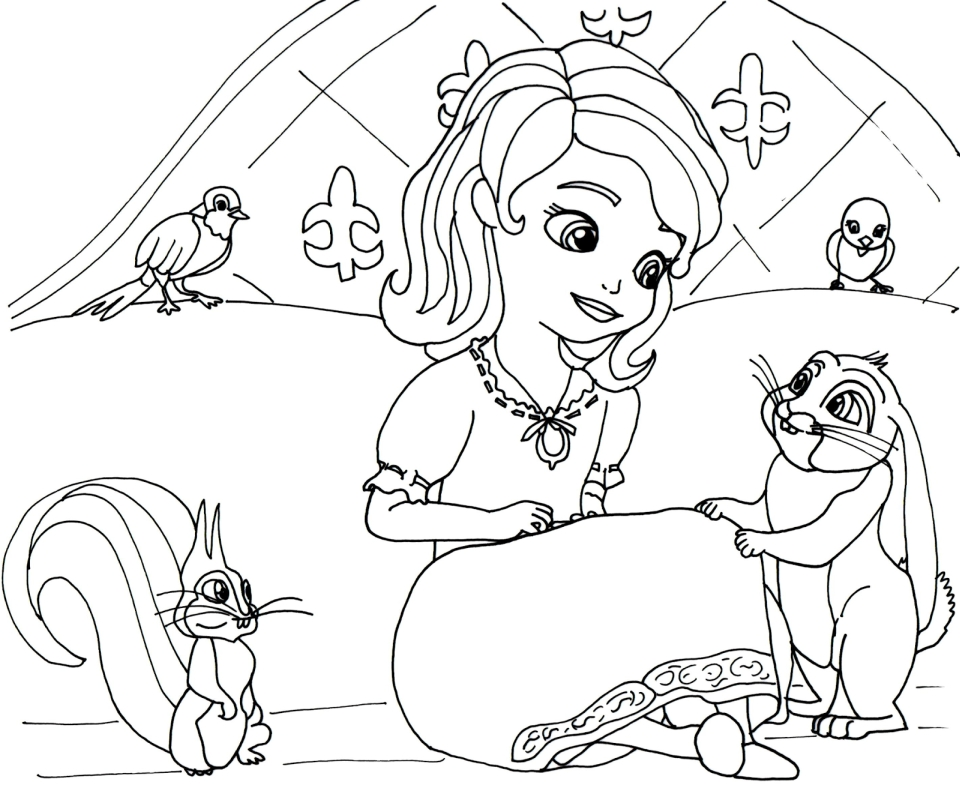 Get This Princess Sofia The First Coloring Pages To Print Out For Girls 78201