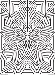 Printable Geometric Coloring Pages for Adults - 14756