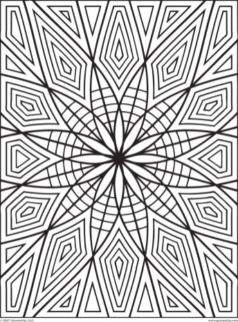 Printable Geometric Coloring Pages for Adults - 25549