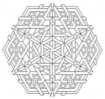 Printable Geometric Coloring Pages for Adults - 57132