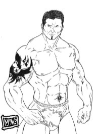 Printable wwe coloring pages batista - 30175