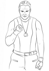 Printable wwe coloring pages dean ambrose - 31850