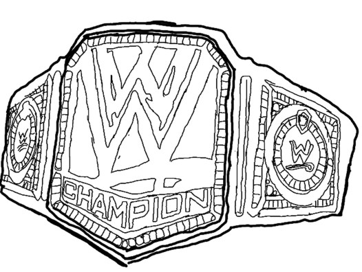 Printable wwe coloring pages of belts - 29185
