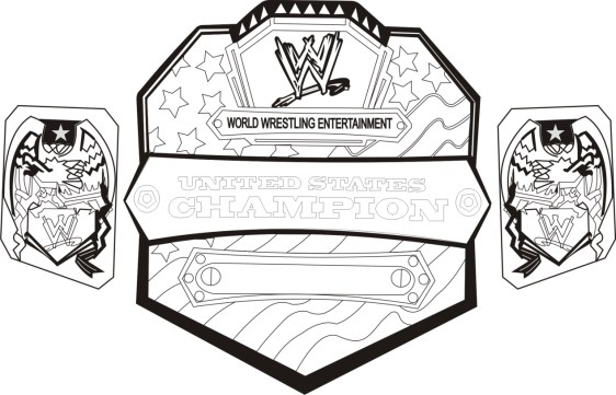 Printable wwe coloring pages of belts - 32717