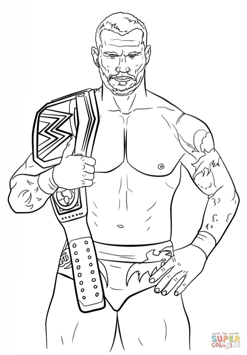 Printable wwe coloring pages randy orton - 21783