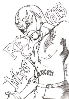 Printable wwe coloring pages rey mysterio - 41902