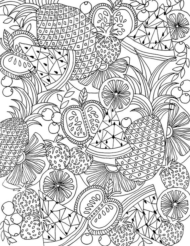 20+ Free Printable Summer Coloring Pages For Adults - EverFreeColoring.com