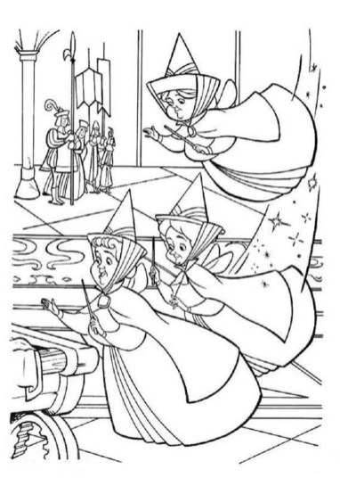 The Fairies from Princess Sofia the First Coloring Pages to Print Out for Girls - 74671