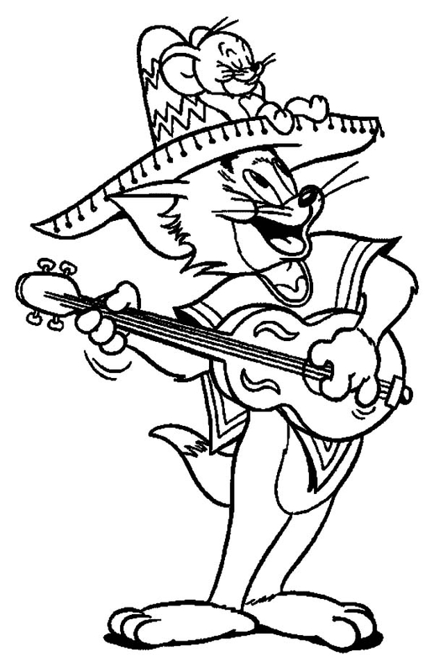 Tom-and-Jerry-Celebrate-Cinco-de-Mayo-Coloring-Pages
