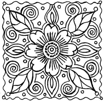 Abstract Coloring Pages for Adults 46187