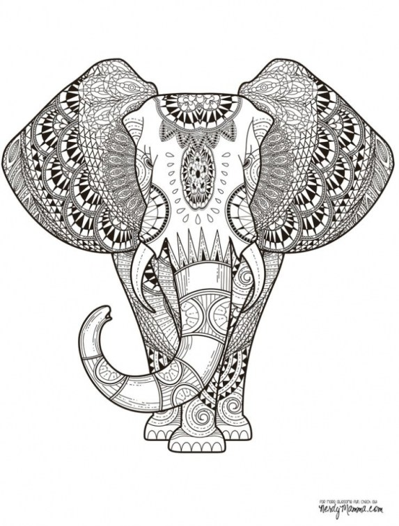 Abstract Coloring Pages to Print Online 88631