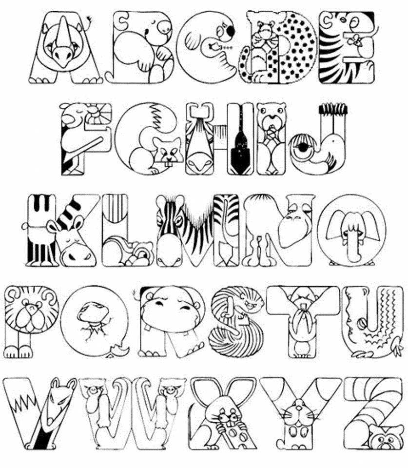 Alphabet Coloring Pages for Kids   61548