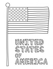 American Flag Coloring Pages for First Grade 78942