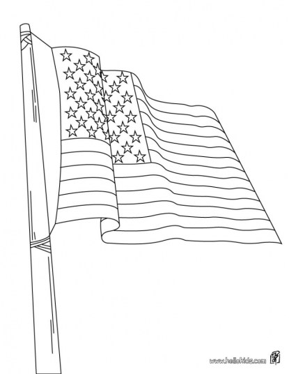 American Flag Coloring Pages Free to Print 05683