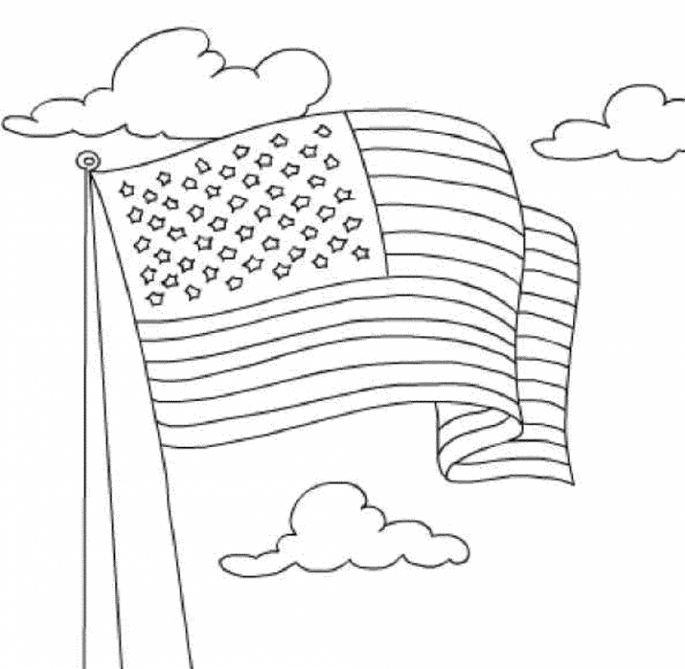 Get This American Flag Coloring Pages Kids Printable 36481