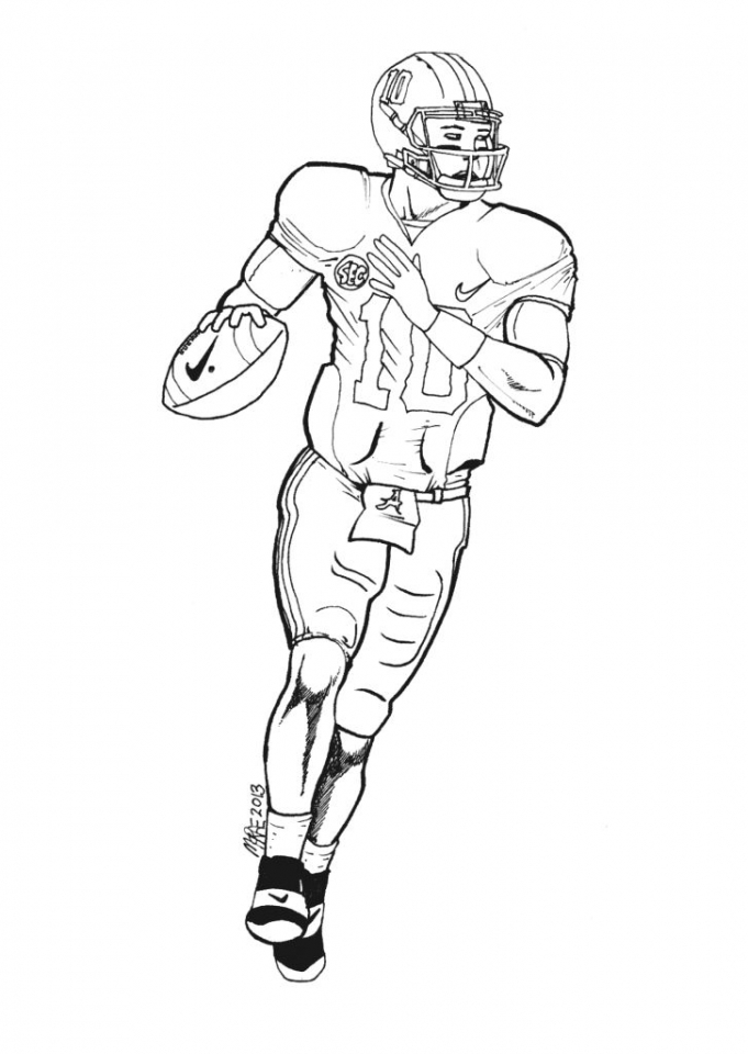 Get This American Football Player Coloring Pages Kids