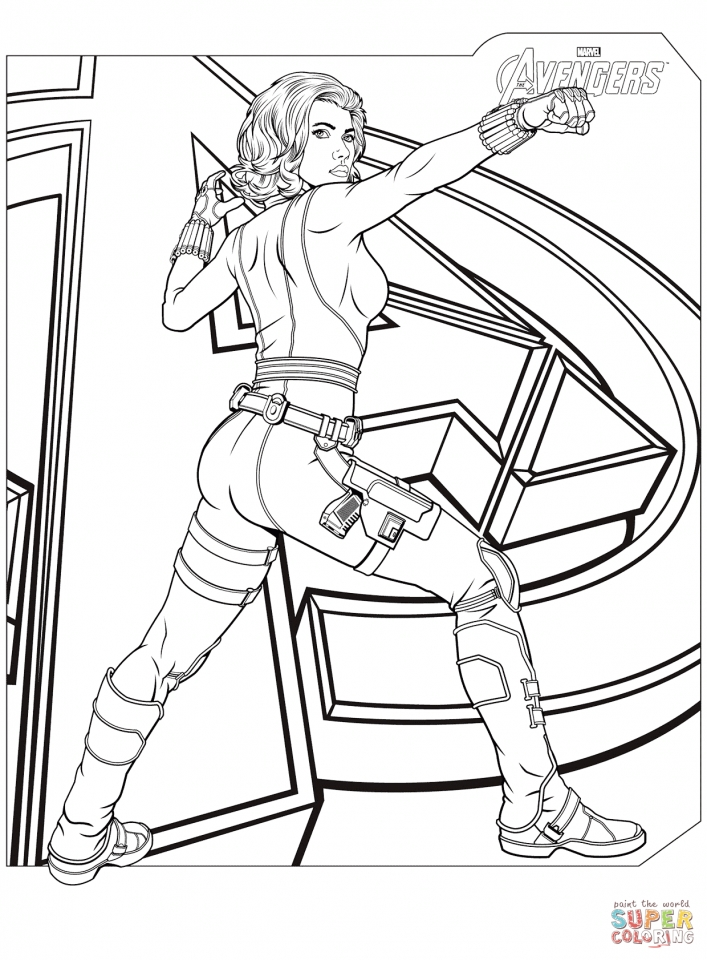 Get This Avengers Coloring Pages Black Widow 34618