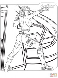 Avengers Coloring Pages Black Widow 34618