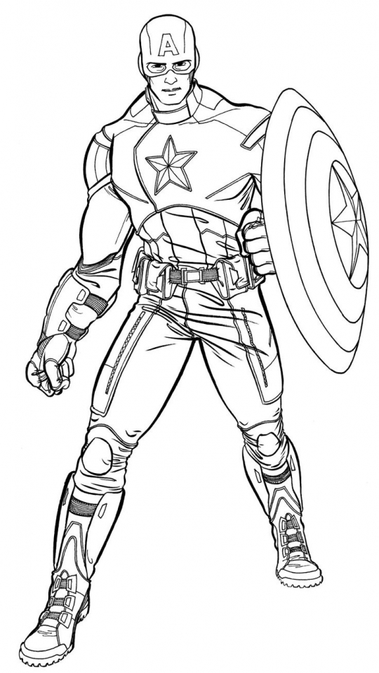 Get This Avengers Coloring Pages Captain America Printable