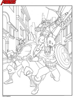 Avengers Coloring Pages Free Printable 49771