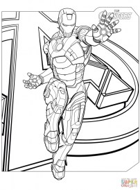Avengers Coloring Pages Iron Man 12575