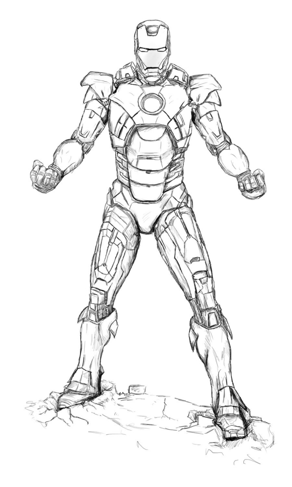 Avengers Coloring Pages Iron Man Printable   79531