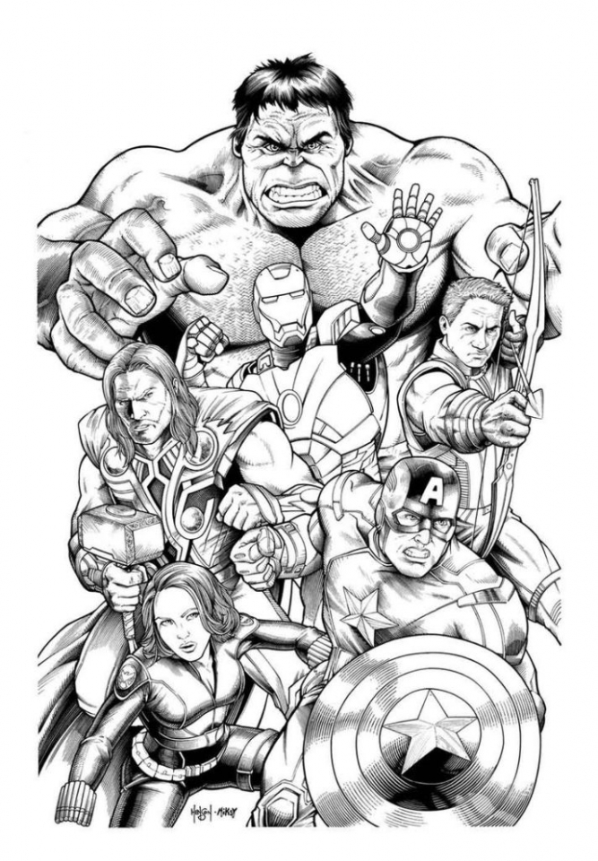 Free Marvel Avengers Coloring Pages | 색칠공부 책, 색칠 활동, 색칠 ... | 960x667
