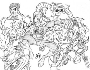 Avengers Coloring Pages online printable 87531