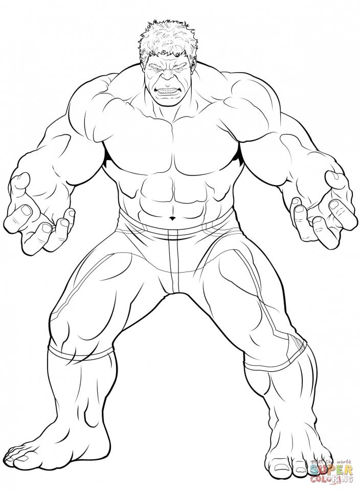 Incredible Hulk Cartoon Color Sheet