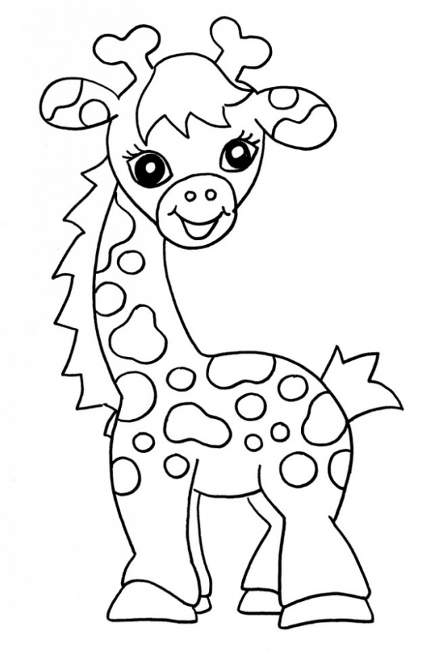 Baby Giraffe Coloring Pages   90471