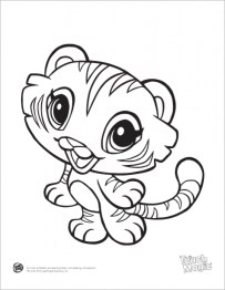Baby Tiger Coloring Pages for Kids 31850
