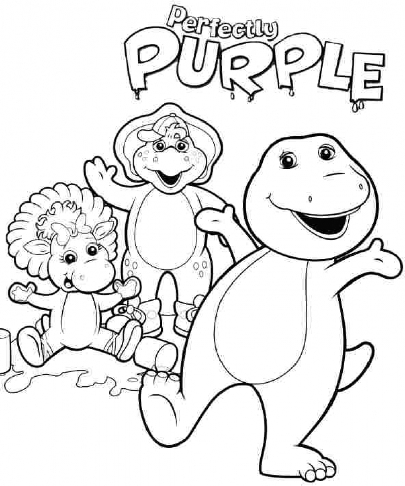 20+ Free Printable Barney and Friends Coloring Pages ...