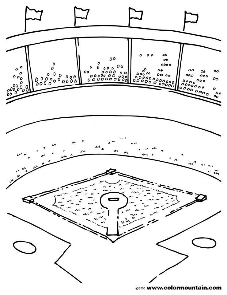 Get This Baseball Field Coloring Pages Printable 85732