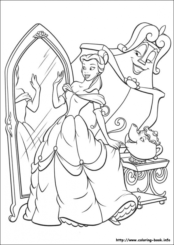Belle Coloring Pages Disney Princess for Girls   84550