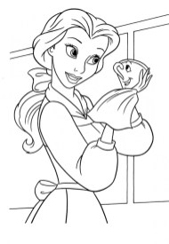 Belle Coloring Pages to Print for Girls 46281