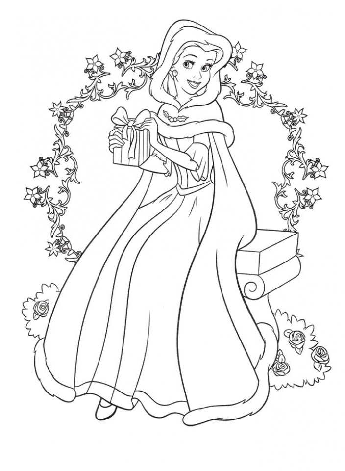 Disney Princess Belle Coloring Pages With Horse Free