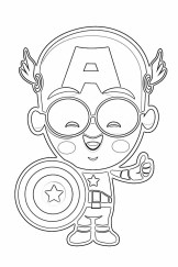 Captain America Coloring Pages for Kids 90451