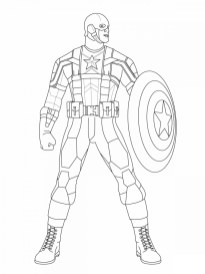 Captain America Coloring Pages Free to Print 31756
