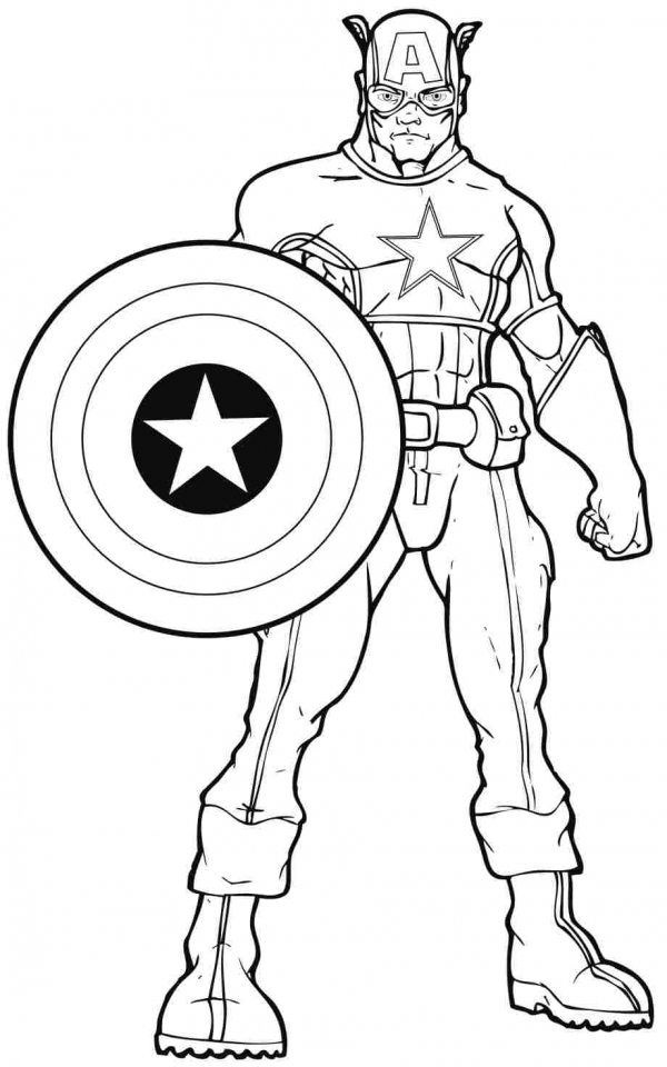 Get This Captain America Coloring Pages Superheroes Printable For Kids  16733 !