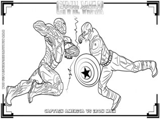 Captain America Coloring Pages Superheroes Printable for Kids 31768