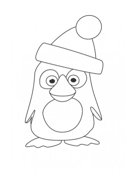Cartoon Penguin Coloring Pages 74592