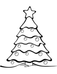 Christmas Tree Coloring Pages Free Printable 12196