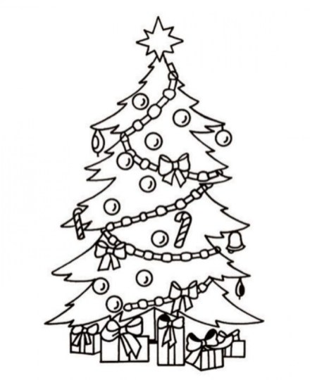 Christmas Tree Coloring Pages Free Printable 84541