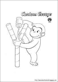 Curious George Coloring Pages for Kids 06031