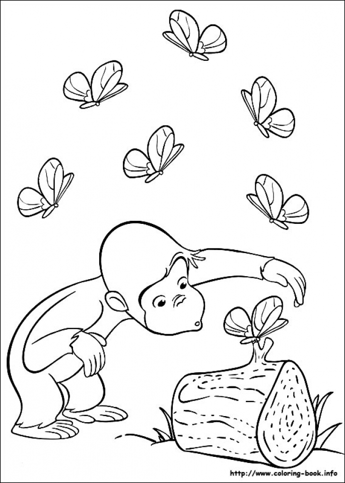 Curious George Coloring Pages Free   27418