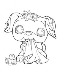 Cute Printable Coloring Pages of Littlest Pet Shop 05621